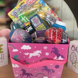Filled Pink/Purple Unicorn Easter Basket