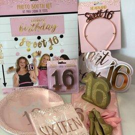 Blush Sweet Sixteen Quarantined Party Kit