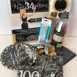 Sparkling 100 Birthday Family Party Kit