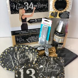 Sparkling 13 Birthday Quarantined Party Kit
