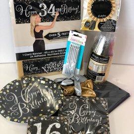 Sparkling 16 Birthday Quarantined Party Kit
