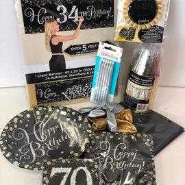 Sparkling 70 Birthday Family Party Kit