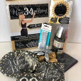 Sparkling 80 Birthday Family Party Kit