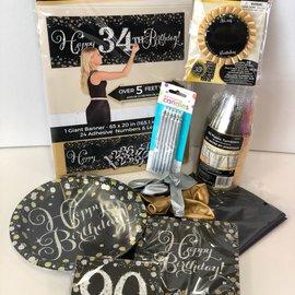 Sparkling 90 Birthday Quarantined Party Kit