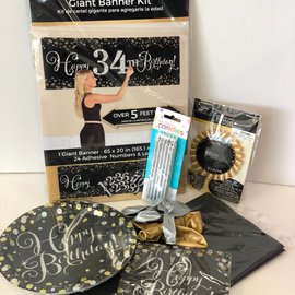 Sparkling Happy Birthday Family Party Kit