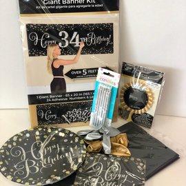Sparkling Happy Birthday Quarantined Party Kit
