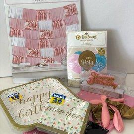 Blush Confetti Fun Quarantined Party Kit
