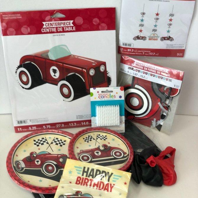 Vintage Race Car Quarantined Party Kit