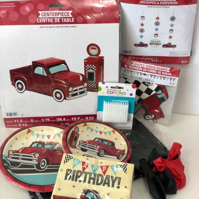 Vintage Red Truck Quarantined Party Kit
