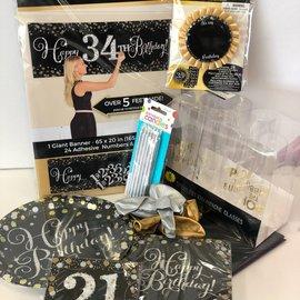 Sparkling 21 Birthday Quarantined Party Kit