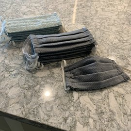 Cloth Face mask with filter pocket (grey)