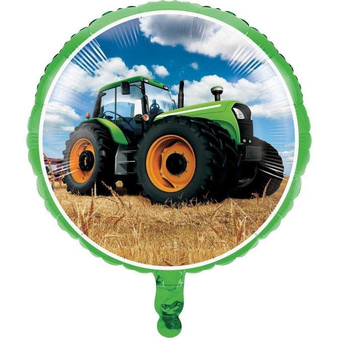 "Tractor Time Metallic Foil Balloon, 18"""
