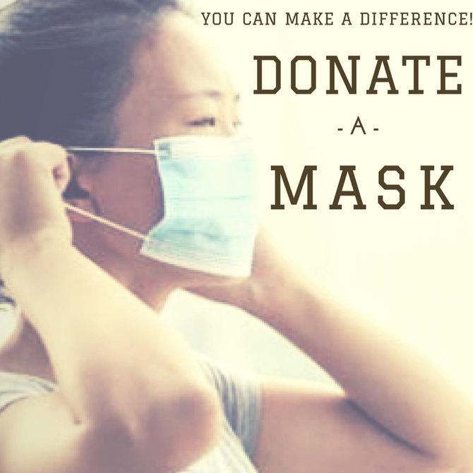 Donate a Mask for $1 (we will match every donation towards masks)