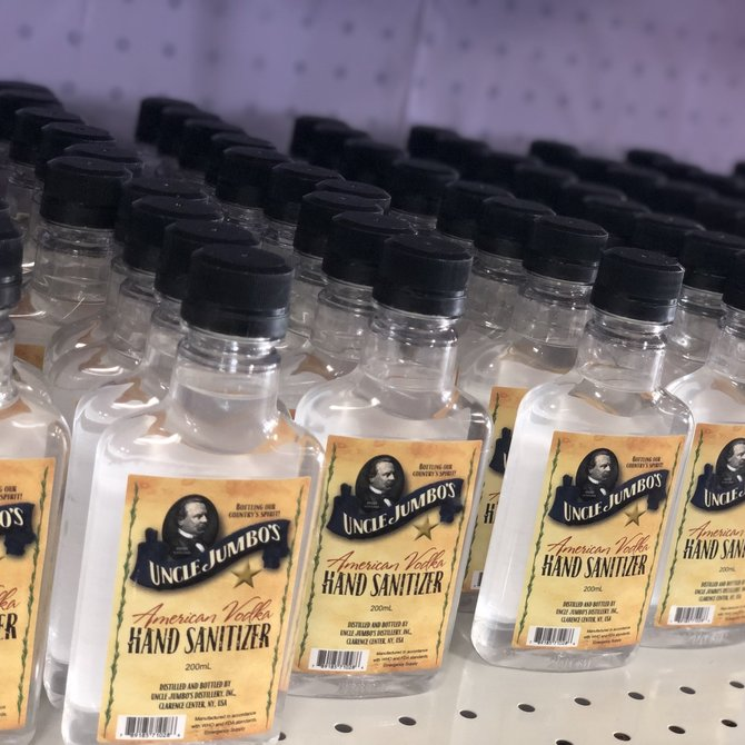 Uncle Jumbos American Vodka Hand Sanatizer 8oz (200ml)