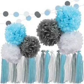Blue, Gray & White Garland Kit