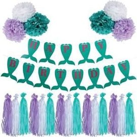 Mermaid Birthday Garland Kit