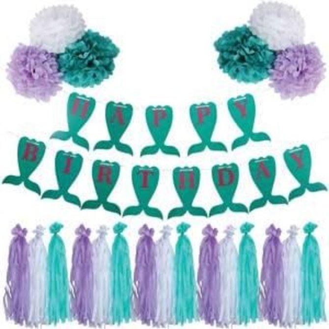 Mermaid Birthday Garland Kit