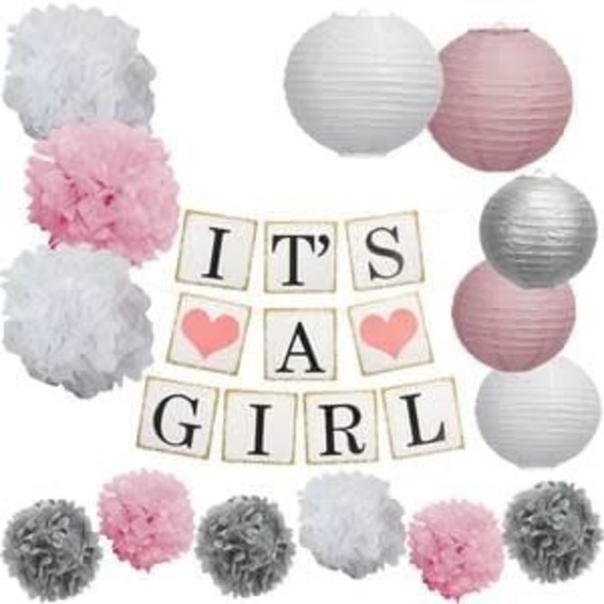 It's A Girl Garland Kit
