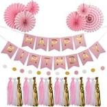 Pink Birthday Garland Kit