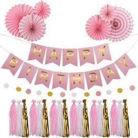 Pink Birthday Garland Kit