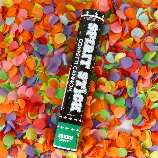 "12"" Spirit Confetti Cannon- Green"
