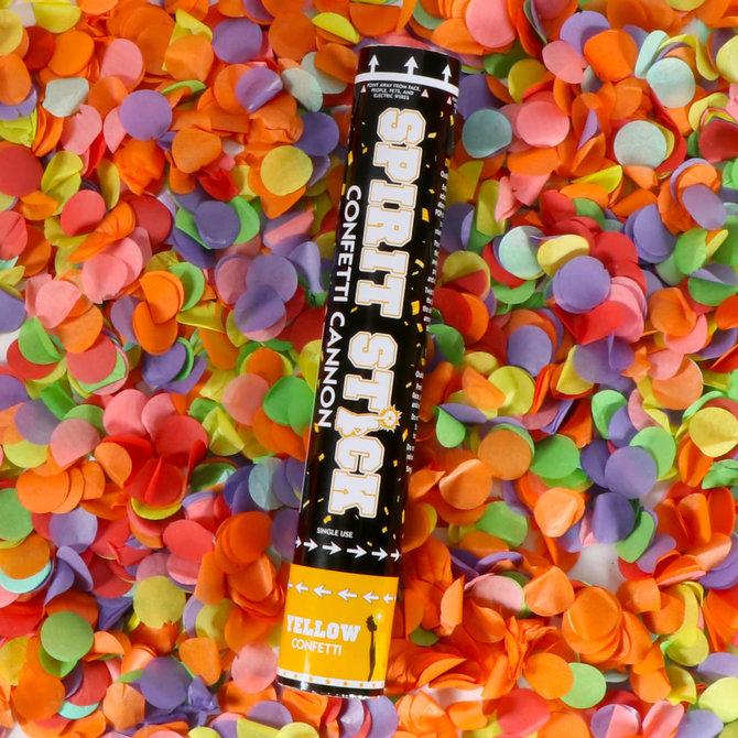 """12"""" Spirit Confetti Cannon- Yellow"""