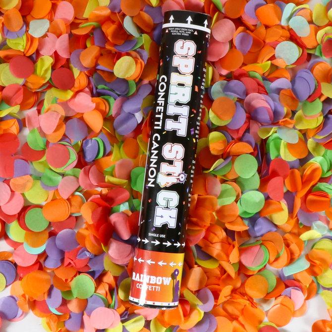 "12"" Spirit Confetti Cannon- Rainbow"