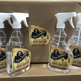 Uncle Jumbos hand sanitizer 16oz. Spray bottle.