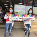 Honk it's my Birthday- Rainbow indoor/outdoor 2' x4'