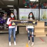 Honk it's my Birthday- quarantined indoor/outdoor 2'x4'