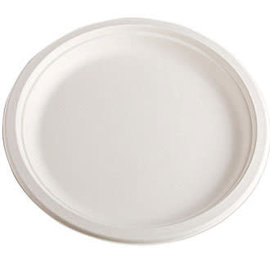 "Eco-Friendly Sugarcane Plates, 7""- 30ct"
