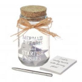 """""""Mermaid Dreams"""" Jar w/Notepad and Pen"""
