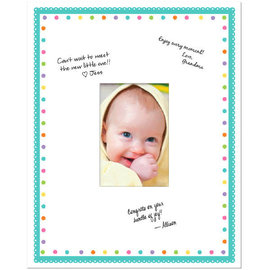 "Baby Shower Autograph Frame - 14 3/4"" x 11 7/8"""