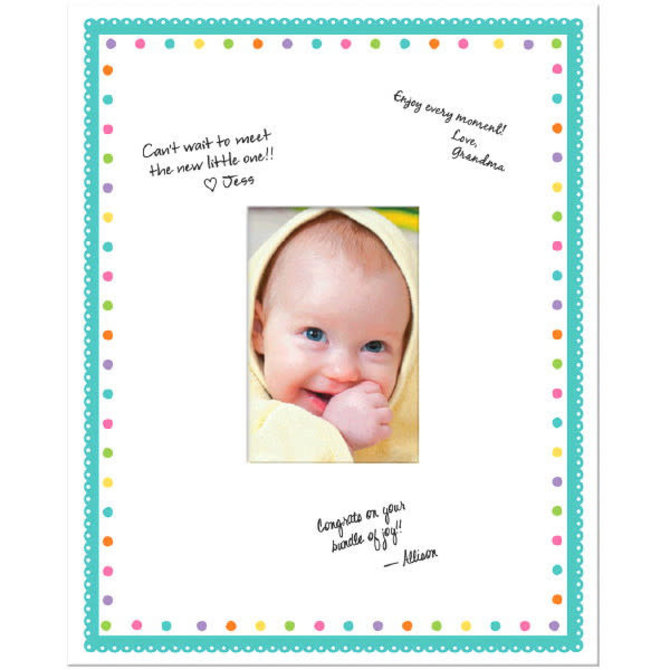 """Baby Shower Autograph Frame - 14 3/4"""" x 11 7/8"""""""