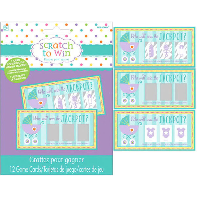 Baby Shower Scratch Off Cards -12ct