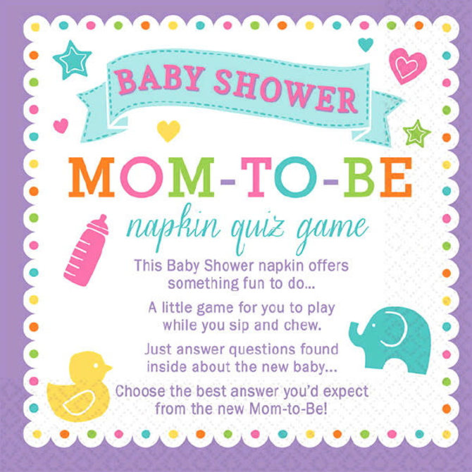 Baby Shower Trivia Napkins- 40ct