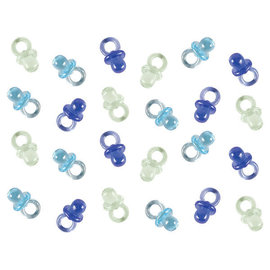 Mini Pacifier Favors - Blue, Multi -24ct