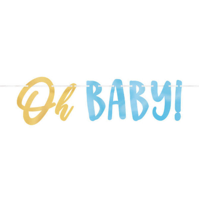 Oh Baby Boy - Letter Banner -12' w/ letters up to 7 1/4""