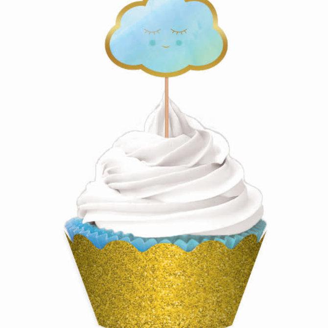 Oh Baby Boy Cupcake Kit -24ct