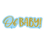 Oh Baby Boy Glitter Centerpiece