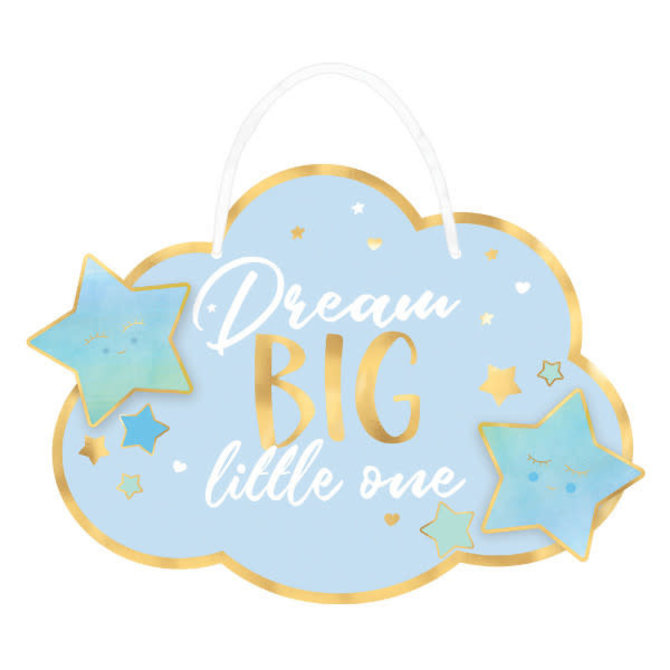 Oh Baby Boy Hanging Sign