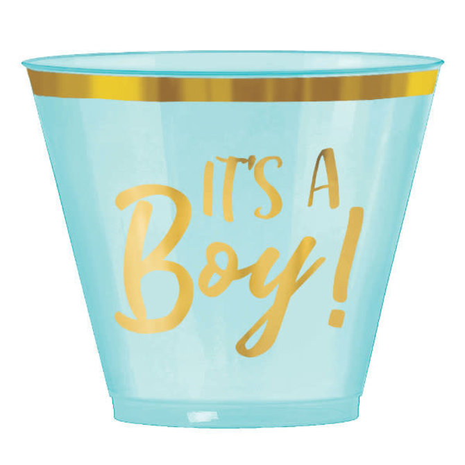 Oh Baby Boy Hot-Stamped Plastic Tumblers, 9 oz. -30ct