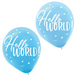"Oh Baby Boy Latex 12"" Balloons- 15ct"