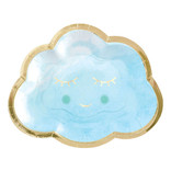 "Oh Baby Boy Metallic Shaped Plates, 6 1/2"" -8ct"
