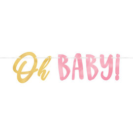 """Oh Baby Girl - Letter  Banner -12' w/ letters up to 7 1/4"""""""
