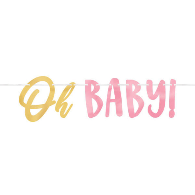 Oh Baby Girl - Letter  Banner -12' w/ letters up to 7 1/4""