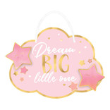 """Oh Baby Girl Hanging Sign- 13 1/2"""" x 13 1/2"""""""