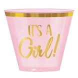 Oh Baby Girl Hot-Stamped Plastic Tumblers, 9 oz. -30ct