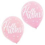 "Oh Baby Girl Latex 12"" Balloons -15ct"