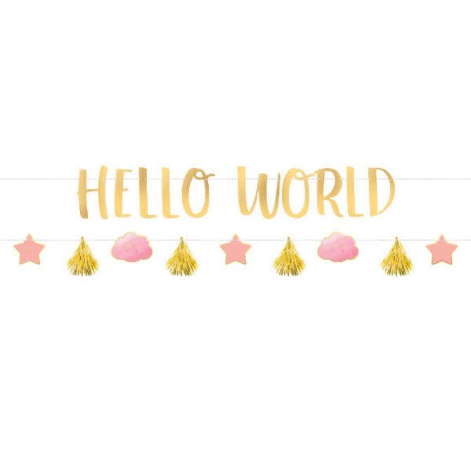 Oh Baby Girl Letter Banner Kit -2ct